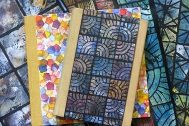 Tage/Gästebuch mit Stempeldruck Papier